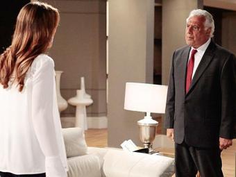 Paloma discute com o pai ao contar sobre Aline - Foto: Divulgação   TV Globo