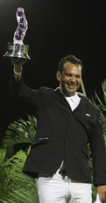 Rafael Ribeiro conquistou Grande Prêmio da Copa Chuin de Hipismo, em Barra do Jacuípe - Foto: Agência Olho de Peixe/ Divulgação