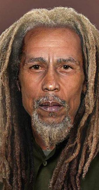 Bob Marley, segundo site, seria assim atualmente - Foto: Reprodução