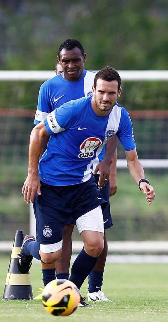 Recuperado da lesão, Lucas Fonseca treina normalmente no Fazendão - Foto: Eduardo Martins | Ag. A TARDE