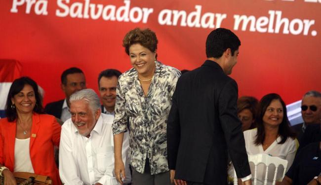Wagner, Dilma e ACM Neto na inauguração da Via Expressa - Foto: Lúcio Távora | Ag. A TARDE