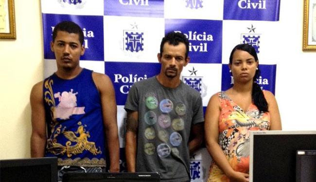 Andréa, Geovanei e Cícero foram capturados no final de semana - Foto: Divulgação | Polícia Civil
