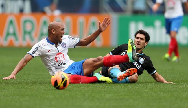 Empate em 0 a 0 com o Grêmio manteve o Bahia ameaçado pelo Z-4, agora dois pontos fora da zona - Foto: Nabor Goulart   Ag. Free Lancer   Estadão Conteúdo