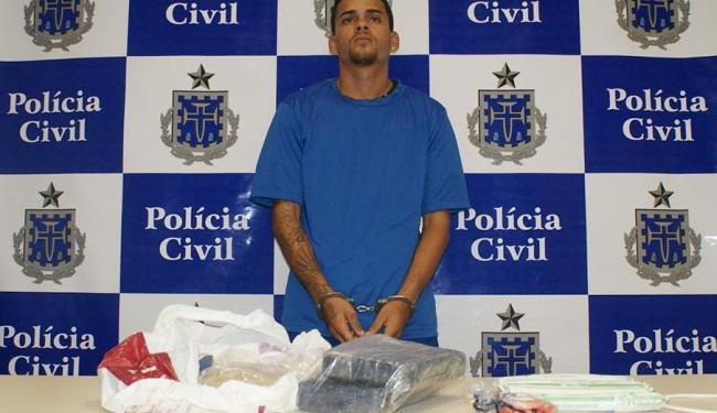 Polícia suspeita que drogas e explosivos pertençam à quadrilha de ladrões de banco - Foto: Polícia Civil | Divulgação