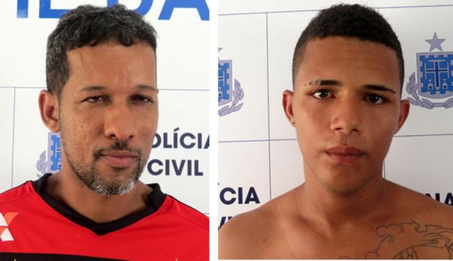 Fabinho (esquerda) e Jefferson (direita) foram capturados por equipes da DTE - Foto: Divulgação  Polícia Civil
