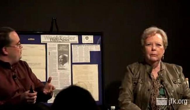 Phyllis Hall (direita) em depoimento ao museu dedicado ao expresidente JFK - Foto: Reprodução | Vídeo
