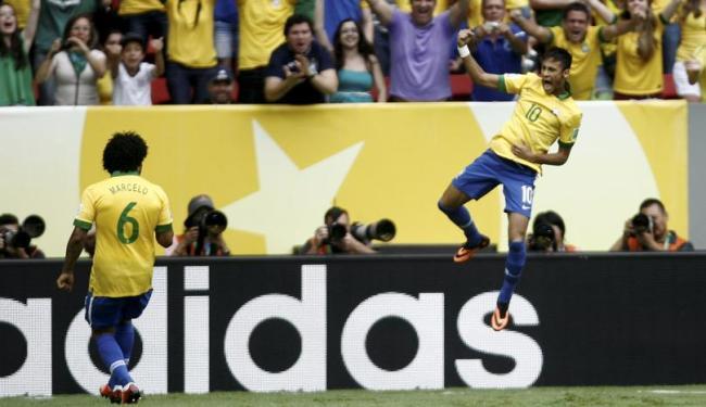 Gol de Neymar foi marcado contra o Japão, na Copa das Confederações - Foto: Raul Spinassé   Ag. A TARDE