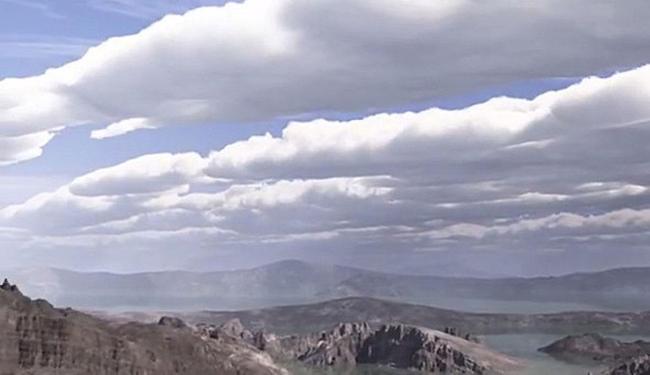 Animação da Nasa mostra o planeta com céu azul e nuvens - Foto: Reprodução