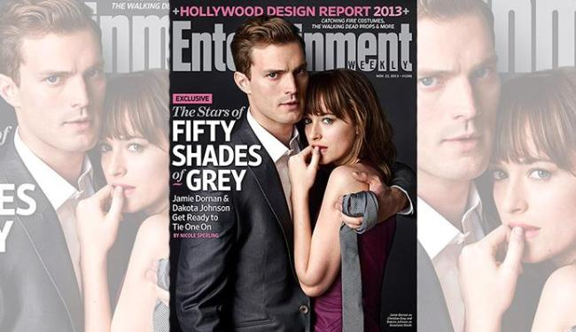 Protagonistas estão caracterizados como Grey e Anastasia - Foto: Divulgação