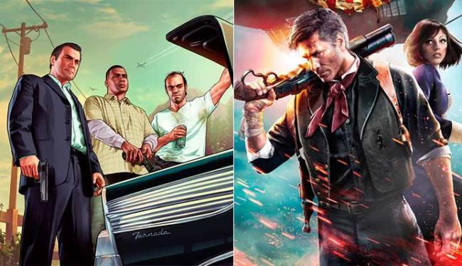 GTA V e BioShock Infinite tiveram oito indicações cada - Foto: Divulgação