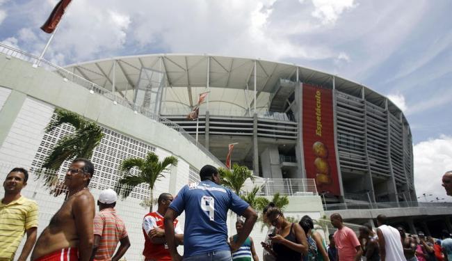 Preços promocionais foram mantidos, assim como no jogo contra o Atlético-MG - Foto: Raul Spinassé   Ag. A TARDE