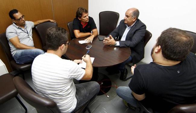O presidente do Vitória foi sabatinado por jornalistas do grupo A TARDE - Foto: Eduardo Martins | Ag. A Tarde