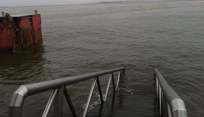 Pier de Gamboa afundou - Foto: Ascom | Prefeitura Cairu