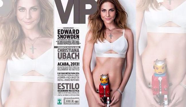 Atriz mostrou sensualidade na capa da revista - Foto: Divulgação