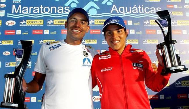 Allan e Ana Marcela venceram a última etapa do campeonato, disputada em Inema, na capital baiana - Foto: CBDA   Divulgação