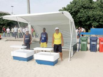 Tendas removíveis serão instaladas na orla de Salvador - Foto: Alessandro Costa | Agência O Dia