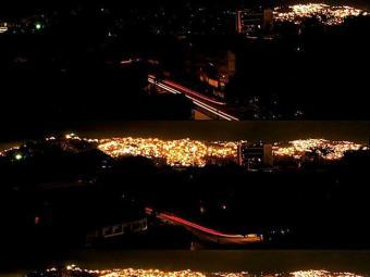 Dez dos 23 estados venezuelanos ficaram sem energia - Foto: Reprodução   Twitter