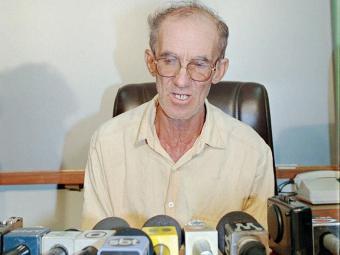 Darly em 1996, durante entrevista na Superintendência da Polícia Federal, em Brasília - Foto: Sérgio Lima | Arquivo | Folha Imagem