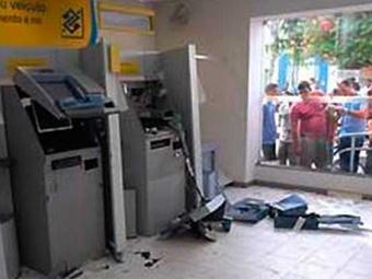 Criminosos detonaram caixas eletrônicos do BB - Foto: Reprodução | Ubatã Notícias