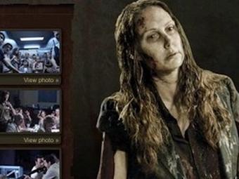 Imagem da atriz Shannon Richardson no site da série 'The Walking Dead' - Foto: Reprodução