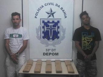 Robson Oliveira de 26 anos, e Edebson Alves , 32, foram presos - Foto: Divulgação/Polícia Civil