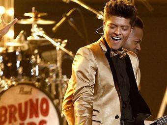Bruno também recebeu quatro indicações ao Grammy neste mês - Foto: AP Photo   Matt Sayles