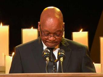 Zuma durante pronunciamento na cerimônia de sepultamento de Mandela - Foto: Agência Reuters