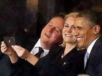 David Cameron , Helle Thorning-Schmidt e Obama - Foto: Reprodução