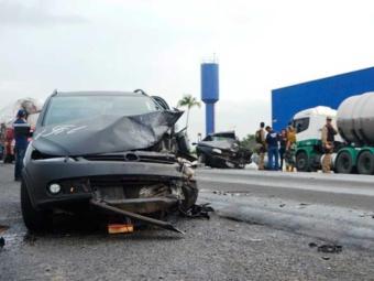 Ultrapassagem provocou o acidente - Foto: Reprodução | Acorda Cidade