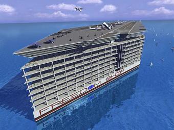 Perspectiva artística do projeto da Freedom Ship - Foto: Divulgação