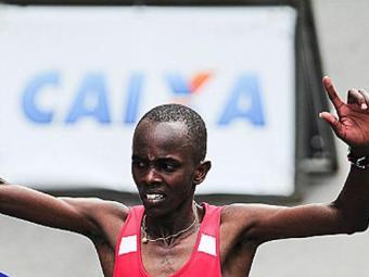 Bicampeão Edwin Kipsang completou percurso em 43m48 - Foto: Divulgação | Site São Silvestre/Djalma Vassão/Gazeta Press