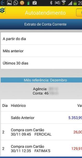 Falha em aplicativo deixava disponível dados de outros clientes do Banco do Brasil - Foto: Reprodução