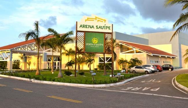 Arena Sauípe, espaço para eventos que fica como legado do evento, tem capacidade para 9.500 pessoas - Foto: Divulgação | Arena Sauípe