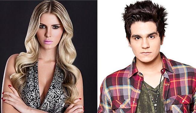 Sertanejo foi acompanhado da modelo na sede do SBT, para gravar o programa de Eliana - Foto: Divulgação