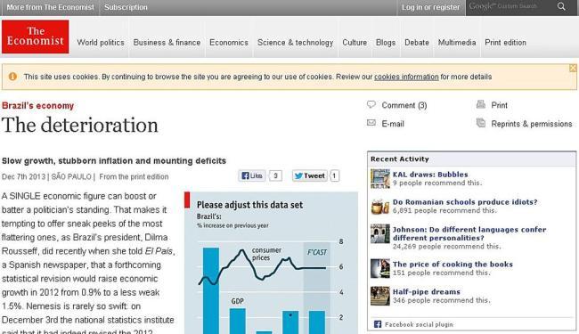 Reportagem de The Economist aborda a