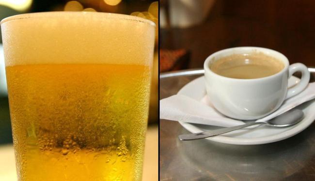 Pesquisadores dizem que chope é melhor que café para viver mais - Foto: Montagem | Ag. A TARDE