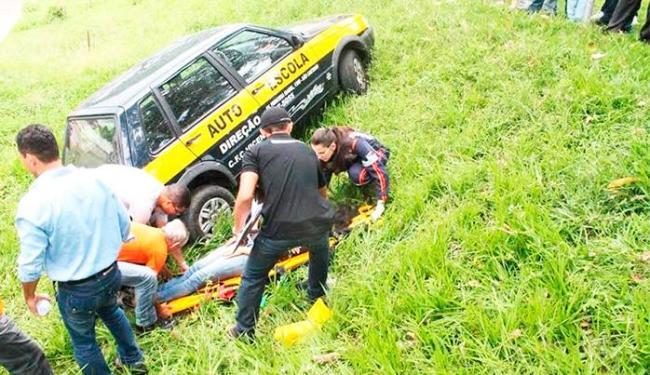 Aluno passava por um teste quando perdeu o controle do carro - Foto: Foto | Radar Noticias