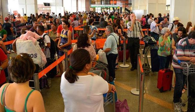 Atrasos nos voos da Gol provocam filas nos aeroportos brasileiros - Foto: Wilson Dias/Agência Brasil