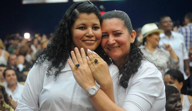 A maioria dos casais (68%) que participou da cerimônia eram formados por lésbicas - Foto: Tomaz Silva / Agência Brasil