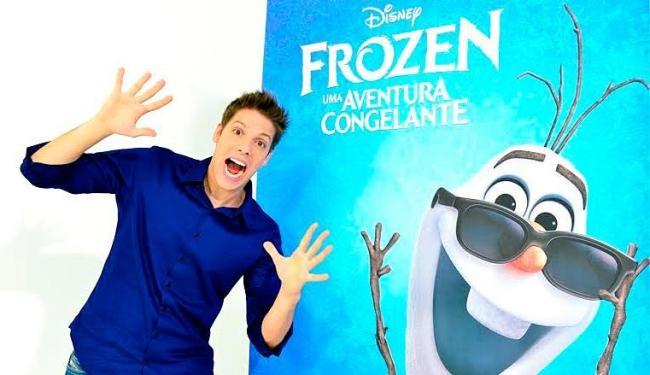Porchat será o boneco de neve Olaf da animação Frozen - Uma Aventura Congelante - Foto: Divulgação