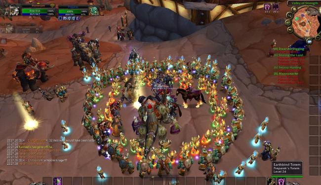 Tela do jogo World of Warcraft, espionado pelas agências americanas e britânicas - Foto: Reprodução