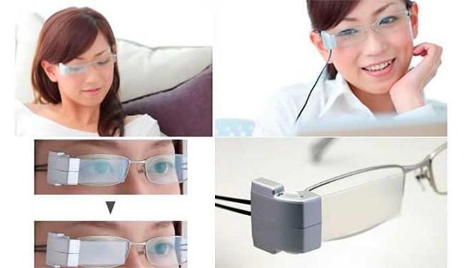 Óculos sam uma bateria na haste esquerda que ativa o sistema - Foto: Divulgação