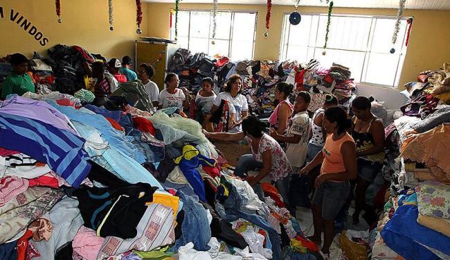 Campanha pretende arrecadar roupas, água, alimentos e materiais de higiene - Foto: Haroldo Abrantes   GOVBA