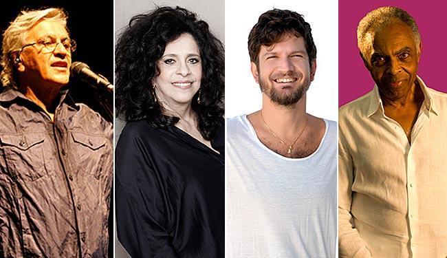 Caetano Veloso, Gal Costa, Saulo e Gilberto Gil são atrações do Réveillon de Salvador - Foto: Arquivo A TARDE