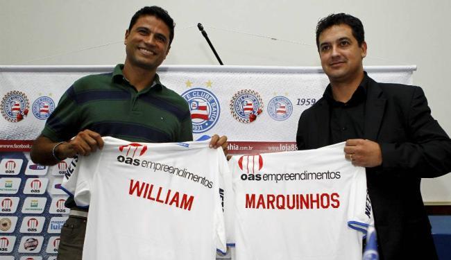 Diretor de futebol e treinador foram apresentados no Fazendão - Foto: Eduardo Martins | Ag. A TARDE
