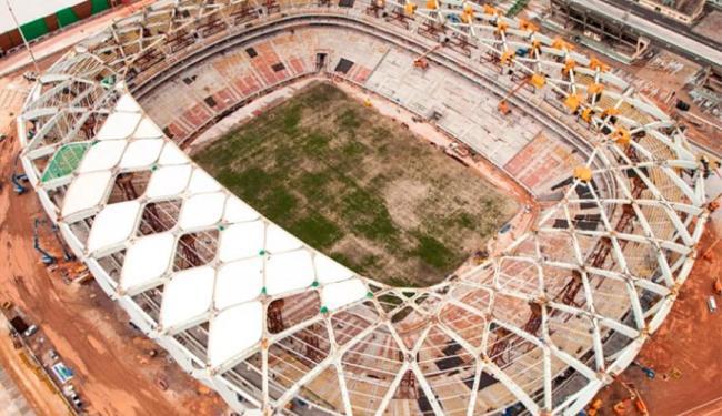 Governo federal divulgou imagens da obra da Arena da Amazônia - Foto: Divulgação   Portal da Copa   Ministério do Esporte
