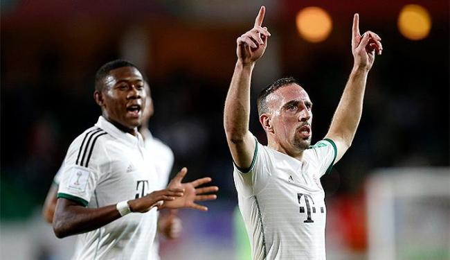 Ribéry comemora depois de abrir o placar para o Bayern de Munique - Foto: Ahmed Jadallah l Reuters