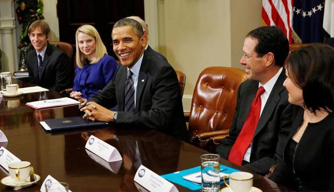 Obama durante a reunião com executivos de tecnologia - Foto: Agência Reuters