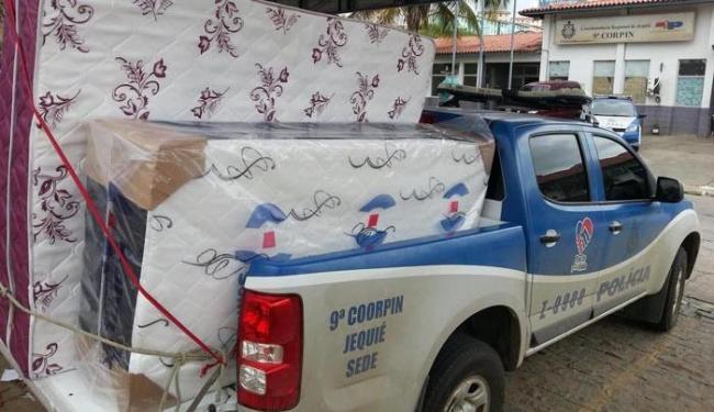 Polícia recupera parte de carga de camas box trocadas por drogas - Foto: Divulgação/Polícia Civil
