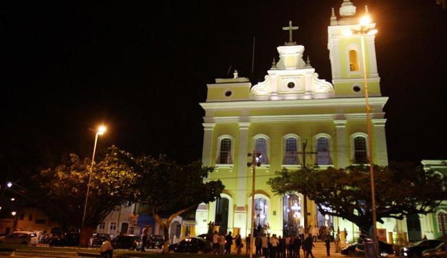 Igreja do Santo Antônio Além do Carmo brilhou à noite - Foto: Lúcio Távora | Ag. A TARDE